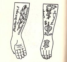 russian prison tattoo arm with tattoos
