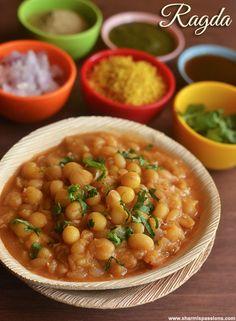 Ragda Recipe - How to make Ragda for Chaats - Sharmis Passions Quick Recipes, Veggie Recipes, Indian Food Recipes, Cooking Recipes, Ethnic Recipes, Snacks Recipes, Cake Recipes, Recipies, Nan Recipe