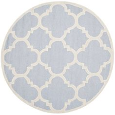 Safavieh CAM140A Cambridge Collection Handmade Wool Round Area Rug, 6-Feet Diameter, Light Blue and Ivory Safavieh http://www.amazon.com/dp/B00KWR5VAU/ref=cm_sw_r_pi_dp_LNZpub1FZYT73