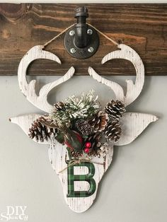 DIY holiday handmade gift idea - personalized flower crown Christmas reindeer decor from Michaels Makers DIY Show Off