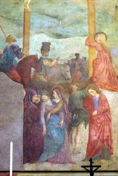 Masolino da Panicale - Crocifissione, dettaglio - 1425-1431 - affresco - Cappella Castiglione, San Clemente, Roma
