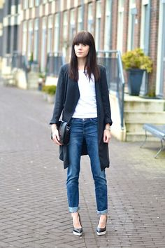 Boyfriend jeans - Part 5 (by Lucy De B.) http://lookbook.nu/look/4643737-Boyfriend-jeans-Part-5
