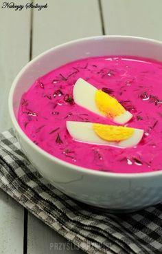 Chłodnik litewski Soup Recipes, Healthy Recipes, Good Food, Yummy Food, Polish Recipes, Polish Food, Kefir, Watermelon, Sweet Treats