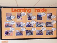 Learning Inside display in my classroom. Includes children's speech and adult thoughts. Early Years Displays, Class Displays, School Displays, Classroom Displays, Eyfs Classroom, Classroom Board, Classroom Ideas, Classroom Inspiration, Bulletin Board