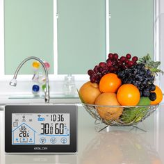 Alert LCD Thermostat Termometro Digital Thermometer Hygrometer Wireless Weather Station Clock Temperature Humidity Meter