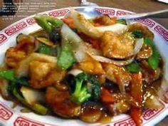 chinese food - orange glazed chicken..