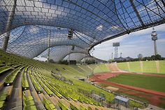 Munich Olympic Stadium by Frei Otto & Gunther Behnisch