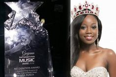Lisa Punch Miss World Guyana 2015 awarded with a 'Recognition Award'