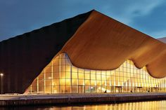 Kilden Performing Arts Centre in Kristiansand, Norway designed by ALA architects. Wood Architecture, Contemporary Architecture, Architecture Details, Box Building, Building Design, Norway Design, Architect Magazine, Reggio Emilia, Kristiansand Norway