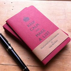 Keep Calm Letterpress Printed Moleskine Cahier