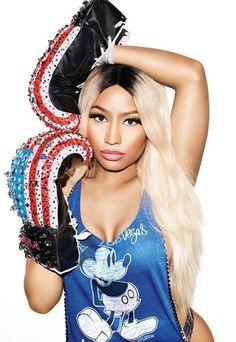 Nicki Minaj boxing style