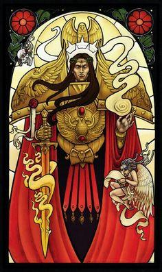 Vitrail de l'Empereur - Impérium de l'Humanité