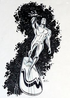browsethestacks: Silver Surfer by Bruce Timm