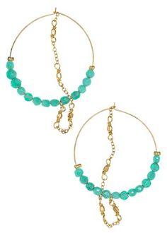 Hoop and Chain Earrings