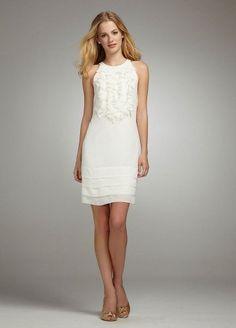 David's Bridal Short Ruffle Chiffon Dress Style 50060: http://www.amazon.com/Davids-Bridal-Short-Ruffle-Chiffon/dp/B005068I0S/?tag=greavidesto05-20