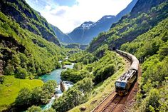 "Flåmsbana (Flam Railway) in Norway – voted ""The world's most incredible rail journey 2014"" of Lonely Planet Magazine"