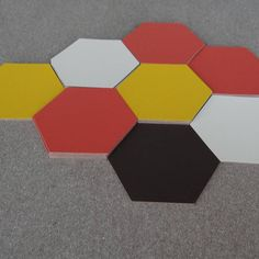 Set Of Six Hexagon Leather Coasters
