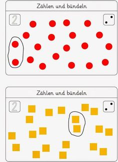 Lernstübchen: Bündeln - eine Kartei zum Fördern Best Picture For first day of Preschool For Your Taste You are looking for something, and it is going to tell you exactly what you are looking for, and Preschool Rules, Preschool Books, Montessori Activities, Preschool Activities, Kindergarten Worksheets, Worksheets For Kids, Math For Kids, Math Lessons, Math Centers