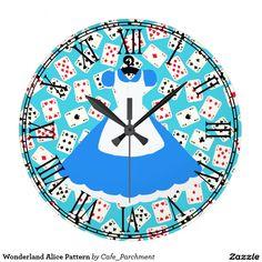 dd53670a11f Relógio Grande Teste padrão de Alice do país das maravilhas