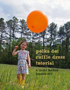 Love this polka dot fabric!