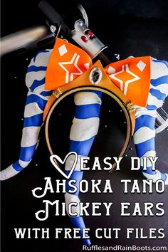 You are going to LOVE making these easy DIY Ashoka Mickey ears. They're simple, fun and really cool. Just grab the easy tutorial to make these fun DIY Star Wars Mickey ears in minutes! Orange Craft, Star Wars Crafts, Ahsoka Tano, Star Wars Party, Love Stars, Foam Crafts, Mickey Ears, Heat Transfer Vinyl, Easy Diy