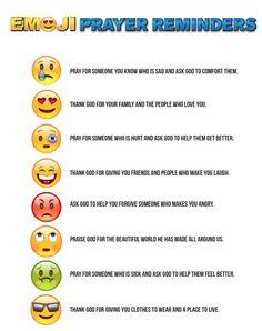 Emoji Prayer Reminders