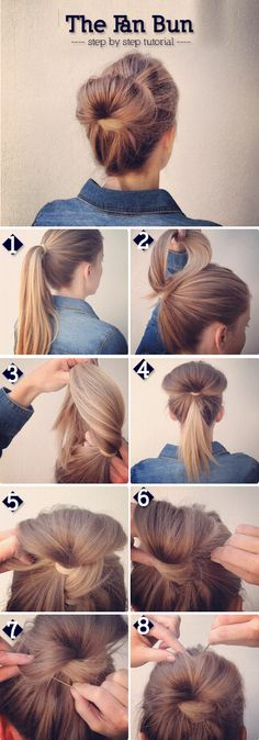 The Fan Bun Steps | trends4everyone                                                                                                                                                                                 More