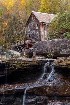 Glade Creek Grist Mill at Babcock State Park, New River Gorge, West Virginia