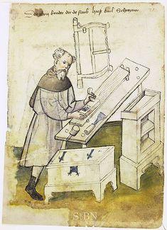 Book of Mendel I, Carpenter, c. 1425 (Amb 317.2 ° Folio 21 recto)