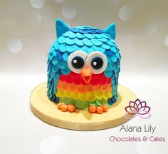 Cute Owl cake For both boys and girls by Alana Lily Chocolates & Cakes