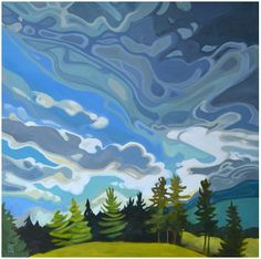 """An Exciting Sky"" - Erica Hawkes - Federation of Canadian Artists"