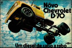 Anúncio caminhão Chevrolet D-70 - 1970