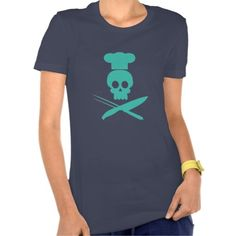 Cool Skull Chef - Hope Blue T-Shirt - Do you like cooking? Are you in love with Food? I'm sure you will appreciate this garment in a nice barbecue day or wherever you want to show you're a top-class chef from hell! So grab your Knife and Fork, wear this food-inspired artwork and you'll be ready to rock and roll!