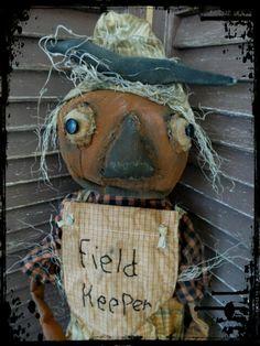 EXTREME Primitive, Very Primitive, Folk Art, Fall, Halloween, Autumn, Pumpkin, Pumpkinhead, Crow, Scarecrow, Hafair, TeamHaHa, Doll by Must by mustardseed on Etsy