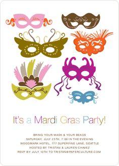 Mardi Gras party invites