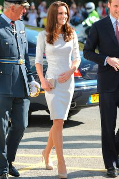 Kate Middleton in Amanda Wakeley