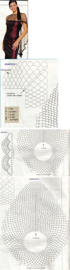 fishnet crochet shoulder cover - to make any strapless classy! I like that it is much longer in back only Crochet Diagram, Crochet Chart, Filet Crochet, Irish Crochet, Diy Crochet, Crochet Stitches, Crochet Patterns, Crochet Shawls And Wraps, Crochet Scarves