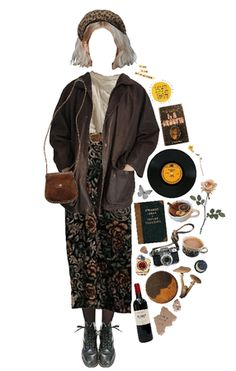Hippie Outfits, Retro Outfits, Cute Casual Outfits, Vintage Outfits, Grunge Style, Soft Grunge, Aesthetic Fashion, Aesthetic Clothes, 70s Fashion