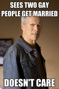 As if we should care 2 gay people want to get married.
