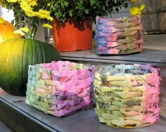 Kid's Craft! Make Newspaper Baskets!