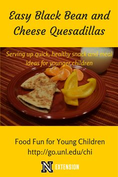 Great idea from @cwellsrd - Tired of making the same meals each week? Need a quick dinner or snack idea? These tasty black bean and cheese quesadillas can be prepared on the go and are super-delicious!