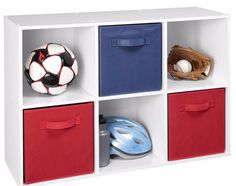 This would be perfect to store American Girl Doll toys clothes and accessories, just add 3 ocean blue fabric drawers. 6 Cube Organizer, Cube Storage, Storage Organization, Storage Spaces, Organizing, Storage Ideas, Childrens Toy Storage, Collapsible Storage Bins, Fabric Drawers