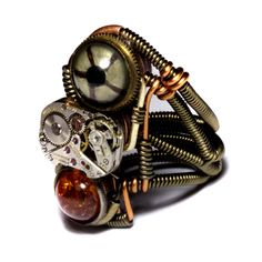 Prototype Steampunk Ring by CatherinetteRings.deviantart.com on @deviantART