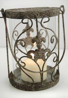 """6""""  Metal & Glass Juliet  Candle Holder or Vase $12.29"""