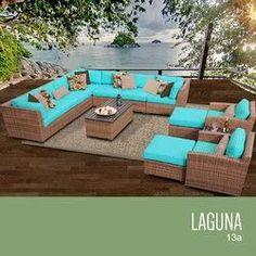 Laguna 13 Piece Outdoor Wicker Patio Furniture Set 13a