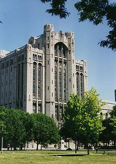 Detroit Masonic Temple - 500 Temple St., Detroit, Michigan, USA.  Built in 1922.  Architect:  George Mason Architectural style:	Neo-gothic architecture