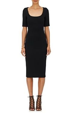VICTORIA BECKHAM Scoopneck Sheath Dress. #victoriabeckham #cloth #dress