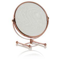 George Home Rose Gold-Tone Mirror | Bathroom | ASDA direct