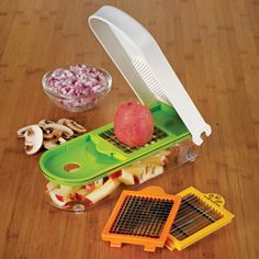 Shop Progressive Dice and Slice Fruit & Vegetable Chopper at CHEFS. This takes  alot out of prep time.  Another of my favorite kitchen gadgets! Makes chopping so easy an no tears with onions!