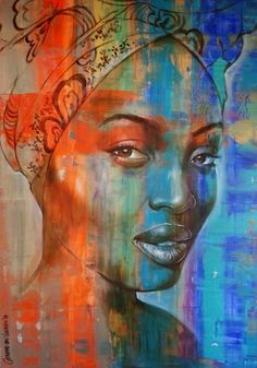 """Sphiwe"" 120x183x5cm; acrylic on board"